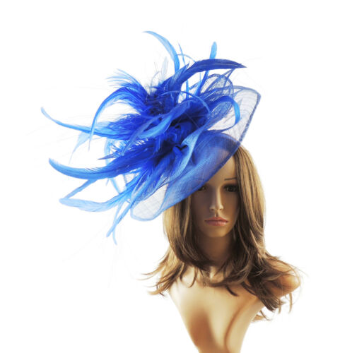 Royal Blue Fascinator Hat For Weddings//Ascot//Proms With Headband V1