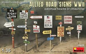 Mini-Art-35608-Model-kit-1-35-Allied-Road-Signs-WWII-European-Theatre