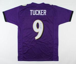 Details about Justin Tucker Signed Baltimore Ravens Jersey (JSA COA) 3xPro Bowl Place Kicker