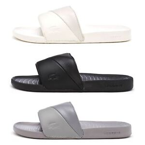 375dce8933cb Lacoste Fraisier 118 3 U Slide Pool Beach Premium Sandals in Black ...