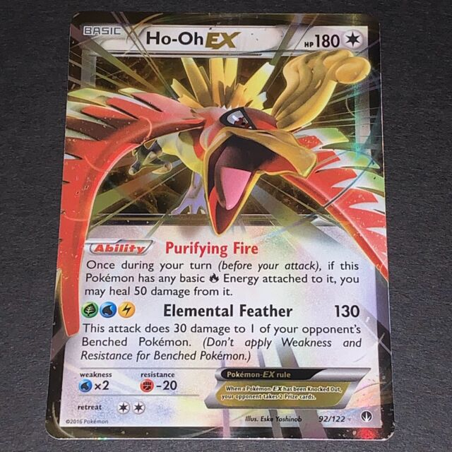 HO-OH EX 92//122 Full Art Mint English Pokemon Card