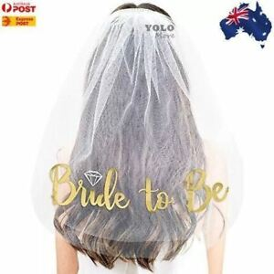 Bride-to-Be-Veil-Gold-Embroidered-Bridal-Shower-Hens-Night-Party-Accessory-AUS