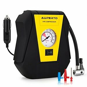 Portable-Air-Compressor-12V-Tire-Inflator-with-Gauge-100PSI-for-Cars-Bikes-Mot