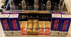 GENALEX EH GOLD PREMIUM Tube Kit McIntosh MC-240 MC240 Amp Platinum Matched