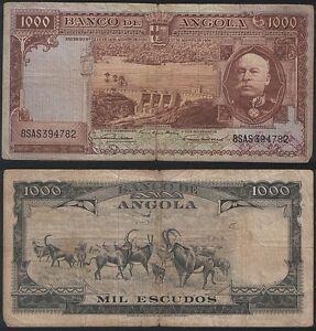 Angola-P-91-1000-Escudos-1956-Fine