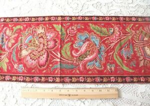 """Hand Blocked & Resist French Indienne Cotton Home Fabric~L-85"""" X W-9"""""""