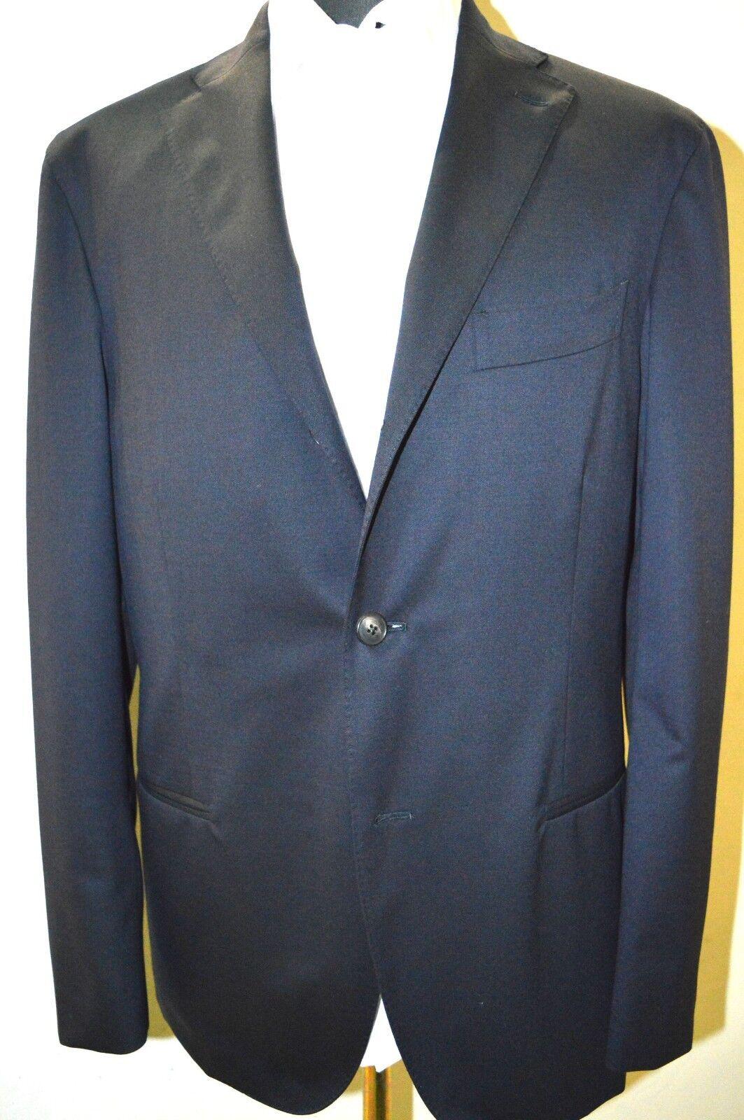 NEW BOGLIOLI Milano K Jacket Blau Suit  100% Wool Größe 40 Us 50 Eu 2BTN