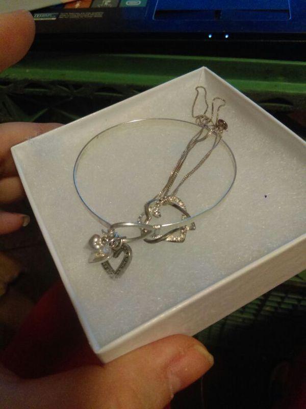 .925 sterling silver charm bracelet & 18