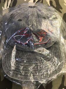 mint-vtg-QVC-GEOFF-BODINE-7-NASCAR-Snapback-HAT-CAP-heather-grey-gray