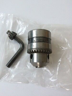 "0.375/"" X 3//8/""-24 shaft mount Jacobs SM4G61 drill or lathe chuck range 0.063/"""