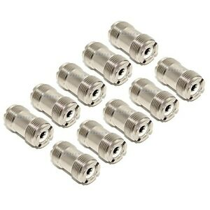 NEW-10-pack-UHF-SO-239-female-coupler-adapter-join-two-PL-259-coax-cable-plugs