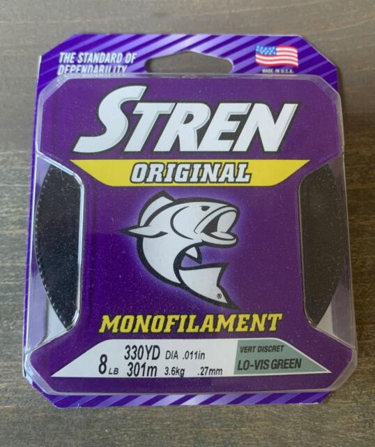 Stren Original Monofilament 8lb 330yd LOW VIS GREEN Fishing Line Free Shipping