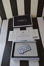 NEW AUTHENTIC ANYA HINDMARCH CAPRA LEATHER  METALLIC BOLLARDS STICKER Boxed