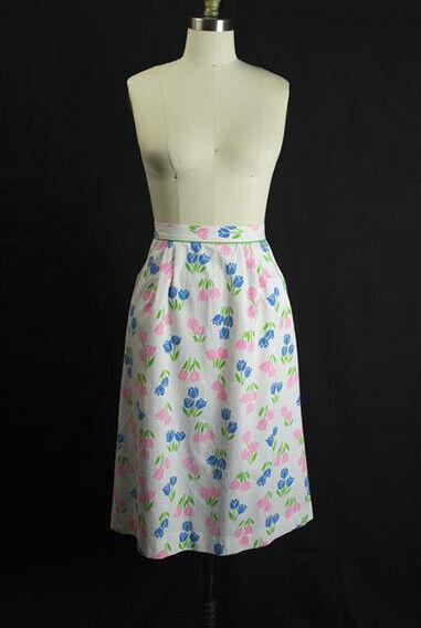 Vintage Tulip Print Skirt SweetNovelty Print Past… - image 2