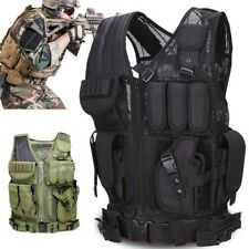 Tactical Vest Adjustable Military Airsoft Molle Combat Army Plate Carrier Unisex