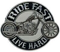 Ride Fast Live Hard Motorcycle Bike Uniform Patch Biker