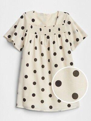 Baby Gap Girl/'s ShortSleeve Smocked Squareneck Dot Print Dress Size 2T 3T 4T 5T