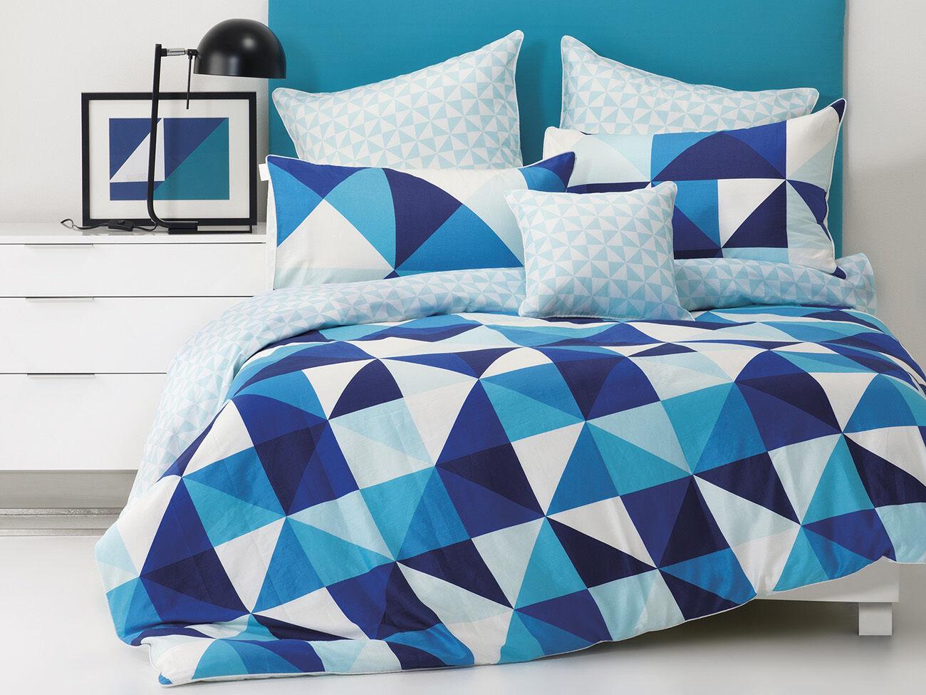 Cruze Duvet   Doona Quilt Cover Set by white   Triangle Design   Queen