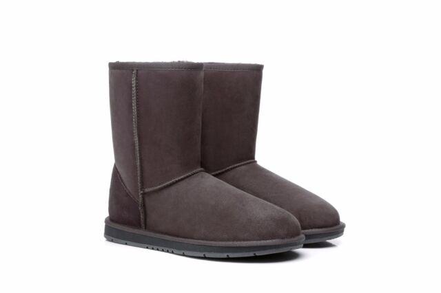 7004d160f79 100 Australian Sheepskin UGG BOOTS Mini Classic AU Ladies 9 / Men 7  Chocolate