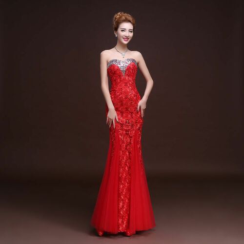 Formal Evening Prom Party Dress Bride//Bridesmaid Dresses Ball Gown   L018F