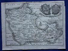 Raro Original Antiguo mapa Berkshire, leer, Windsor, Samuel Simpson 1746