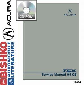 Acura TSX Shop Service Repair Manual CD - 2005 acura tsx repair manual