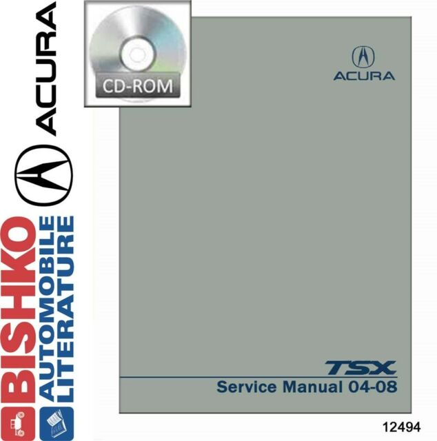 2004 2005 2006 2007 2008 Acura TSX Shop Service Repair