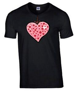Mothers-Day-Gift-Shabby-Chic-Heart-Tshirt-Black-T-shirt-Crew-Neck-Tee-Shirt