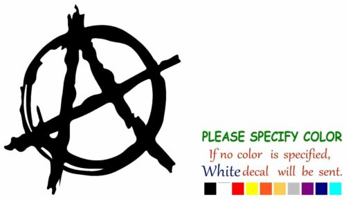 "Anarchy Symbol Adhesive Vinyl Decal Sticker Car Truck Window Bumper Laptop 6/"""