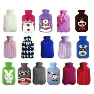 2000ml-Large-Knitted-Crochet-Relaxing-Bottle-Cover-Case-Heat-Cold-Hot-Water-Bag