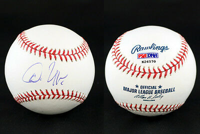 Autographs-original Diplomatic Don Uggla Signed Romlb Baseball Atlanta Braves Psa/dna Autographed