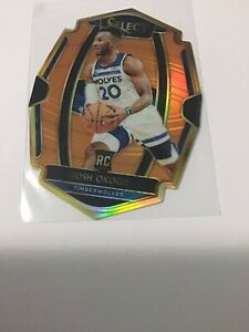 2018-19-Panini-Select-Josh-Okogie-ORANGE-PRIZM-Rookie-Die-Cut-Premier-Level-8-65