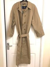 Ladies Burberry Trench Coat long length size L 14 16 18