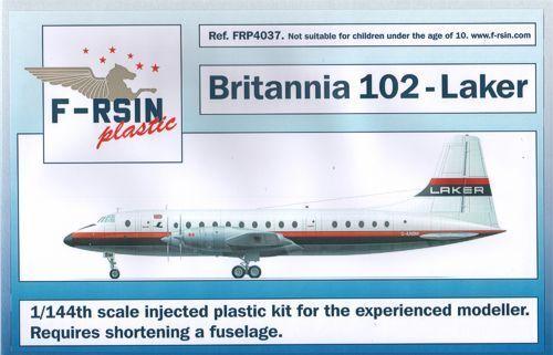F -rsin plastic 1  144 Bristol Britannia 102 Laker Airways har erfarenhet av modellllerer