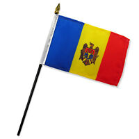 Moldova 4x6 Flag Desk Table Stick