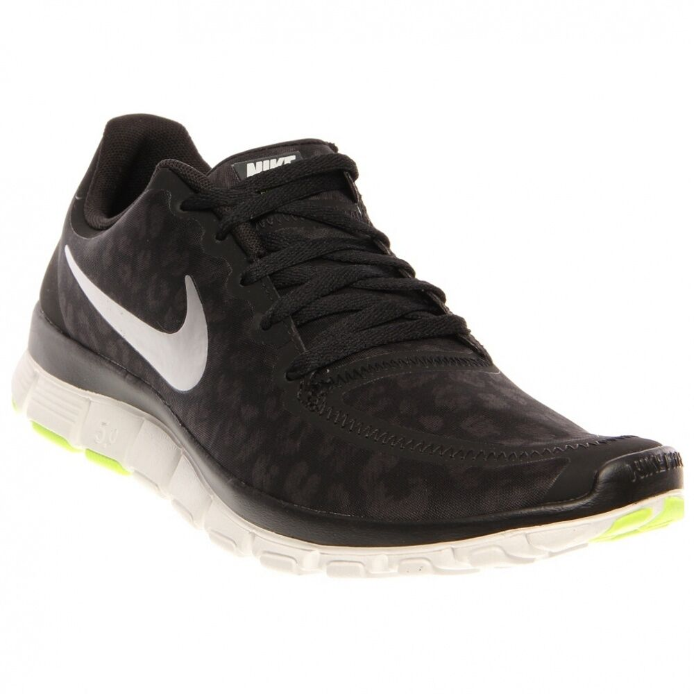 Nike WOMENS NIKE FREE 5.0 V4 Black/Mtllc Silver-Anthracite-Volt 511281-008 Shoes