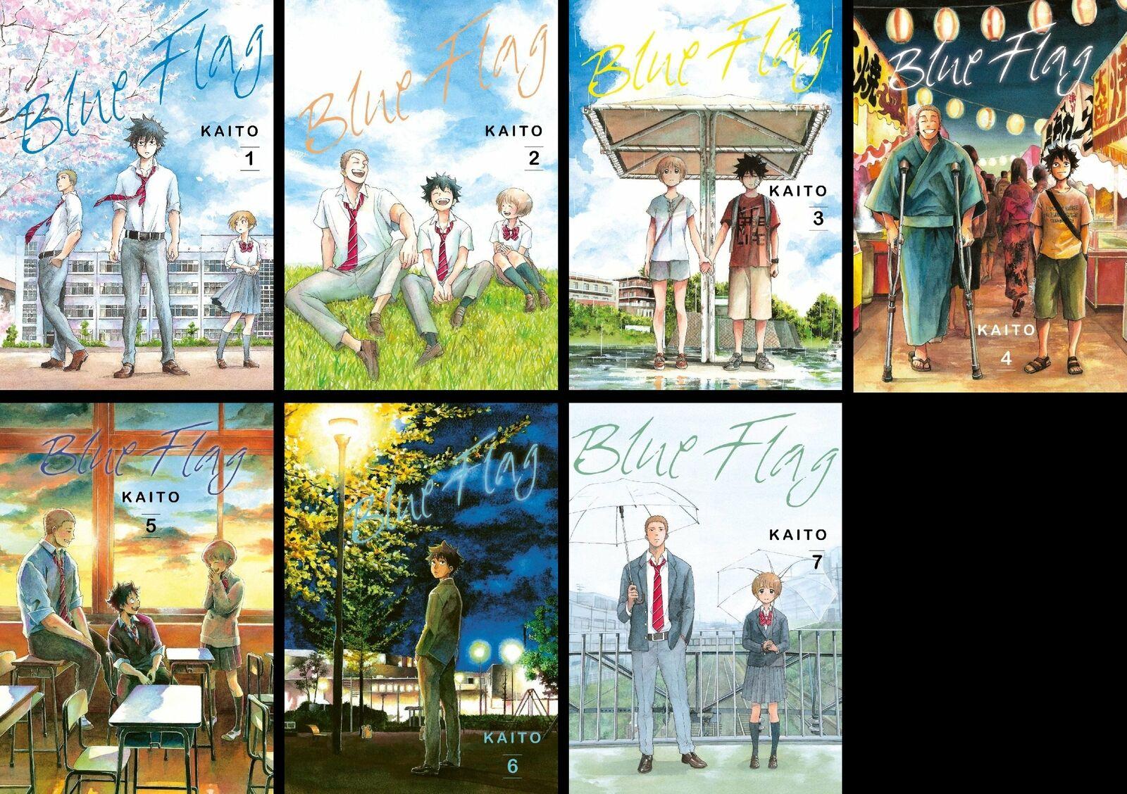 Bild 1 - Blue Flag 1 - 7 komplett Carlsen Manga - deutsch NEU