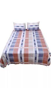 100% Cotton 4-Piece Bedding Sets Fitted Sheet Flat Sheet 2 Pillowcase Full Size