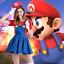 Adult Mario and Luigi Costumes Super Plumber Bros Halloween Fancy Women Dress