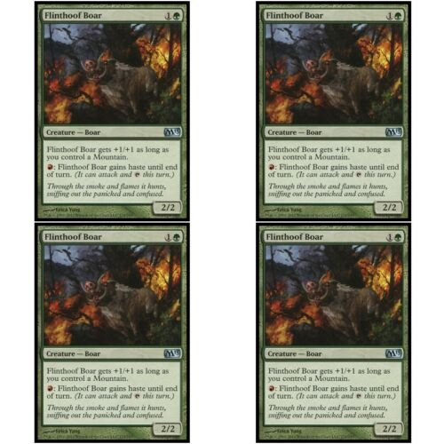 4 x FLINTHOOF BOAR NM mtg M13 Green Creature Boar Unc