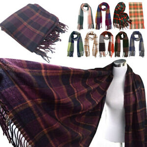 Ambitieux Mode Femme Couverture Tartan Scarf Wrap Shawl Plaid Cozy Winter Wear Cadeau-afficher Le Titre D'origine