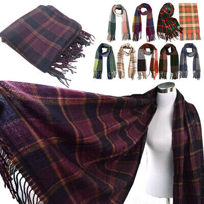 Ausdrucksvoll Women's Fashion Blanket Tartan Scarf Wrap Shawl Plaid Cozy Winter Wear Gift