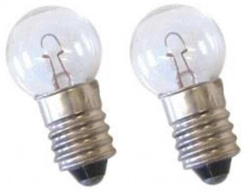 2x SupaLec MES Replacment Screw Torch Light Bulb 3.5V