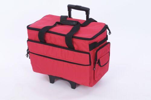 """19/"""" Roues machine à coudre transporteur TB19-Rouge"""