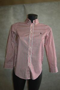 CHEMISE-POLO-RALPH-LAUREN-TAILLE-12-ANS-DRESS-SHIRT-CAMISA-GOLF-CAMICIA
