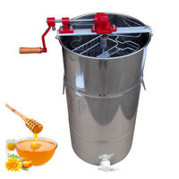 High Quality 2 Frame Honey Extractor Stainless Steel Beekeeping Equipment Silve