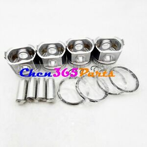 Ring Kit Set STD for Mitsubishi K4E X 4 PCS Piston