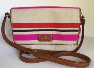 f0e692d24 NWT KATE SPADE Fynn Crossbody Flap Oak Island Stripe Color Bag ...