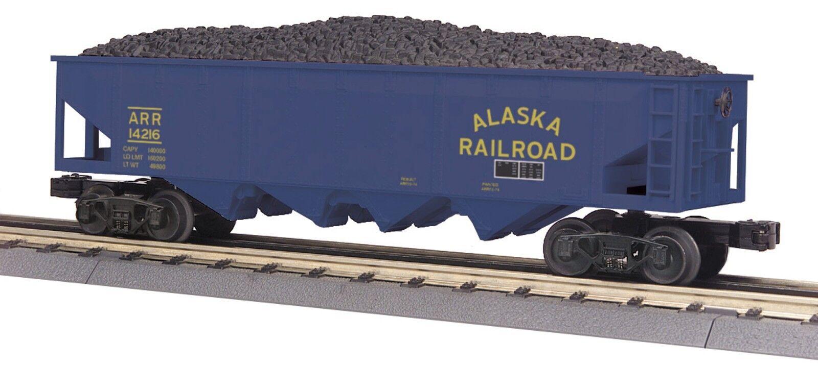 MTH 30-75510, O Gauge, 4-Bay Hopper Car - Alaska -  Car  14216