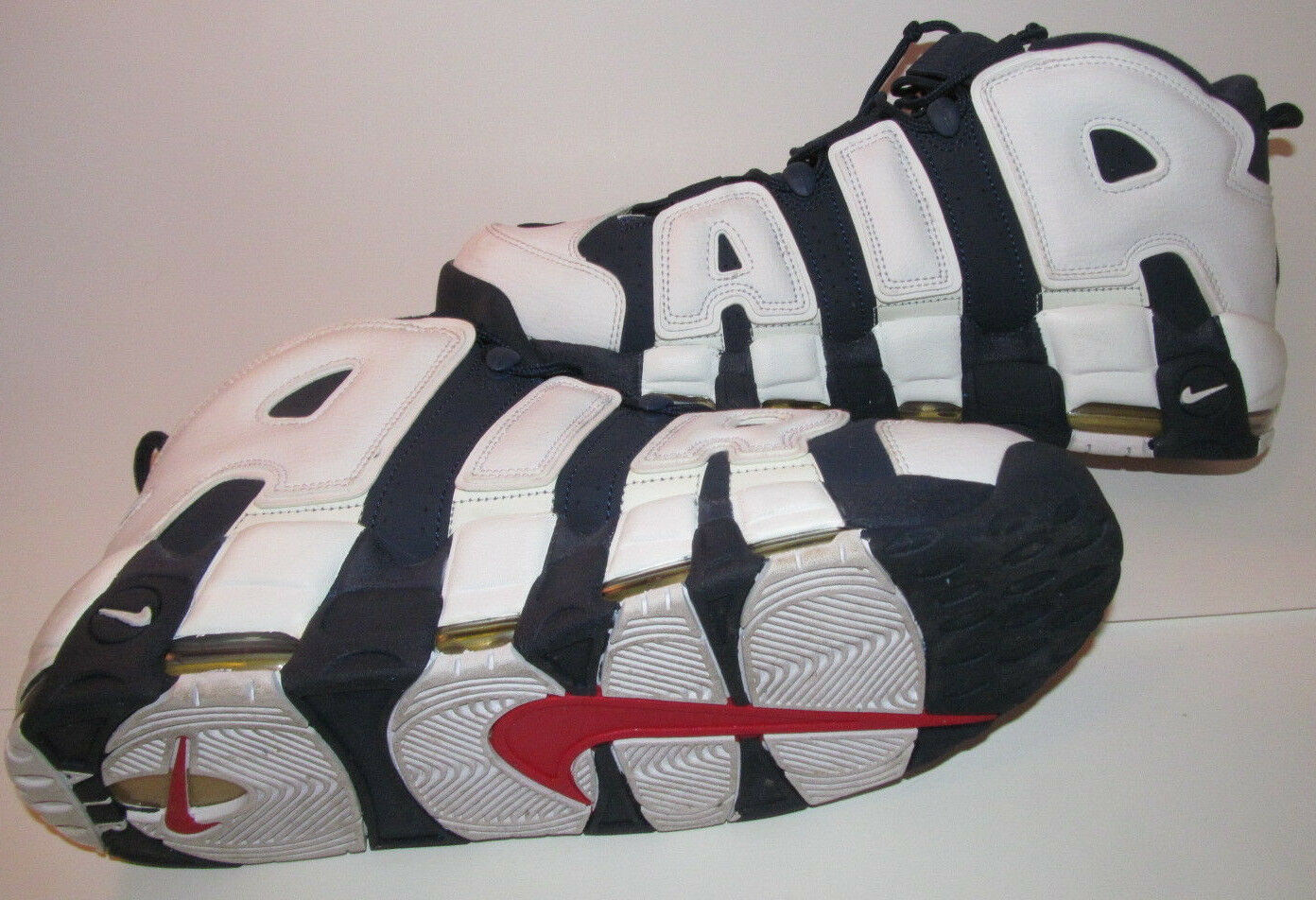 2018 Nike Air UPTEMPO 1 USA MAX SCOTTIE PIPPEN USA 1 OLYMPIC Blanco Azul Oro DS 13 42aa04